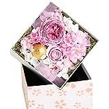 FLABEL プリザーブドフラワー ボックスフラワー バラ 桜 SAKURA GIFT 桃花色