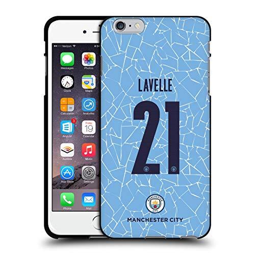 Head Case Designs Oficial Manchester City Man City FC Rosa Lavelle 2020/21 Kit Hogar Mujer Grupo 2 Funda de Gel Negro Compatible con Apple iPhone 6 Plus/iPhone 6s Plus