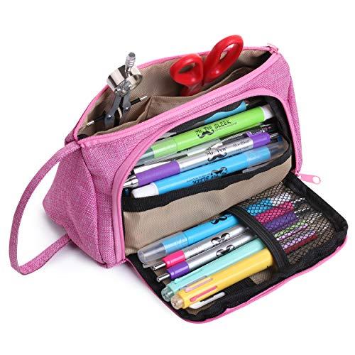 Mr. Pen- Pink Pencil Case, Pencil Pouch, Pen Bag, Pencil Case Organizer, Pencil Pouch Large, Large...