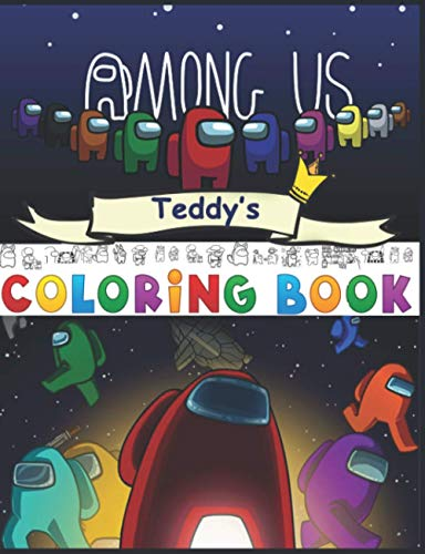Among Us Teddy's: Coloring Book
