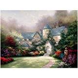 Thomas Kinkade Oil Landscape Painting Beyond Autumn Gate Decor Wall Canvas for Hostel Print On Canvas -60x90cm Wooden Inner Frame