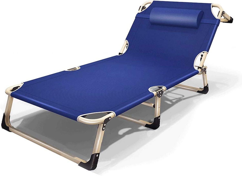 GLLT Klappbarer Loungesessel Faltbares, breiter werdendes Campingbett Mit Kissenstruktur aus Metall 1200D Oxford-Stoff Belastung bis zu 200 kg 195X68CM