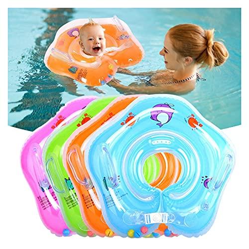 Baby Hals Schwimmring, Babypool-Schwimmer, Aufblasbare Kinder Schwimmen Schwimmer, Kinder-Schwimm-Hals-Ring für Baby Kinder Infant 0-18 Monaten, Kleinkind Schwimmhilfe Schwimmring Halsring (Rosa)