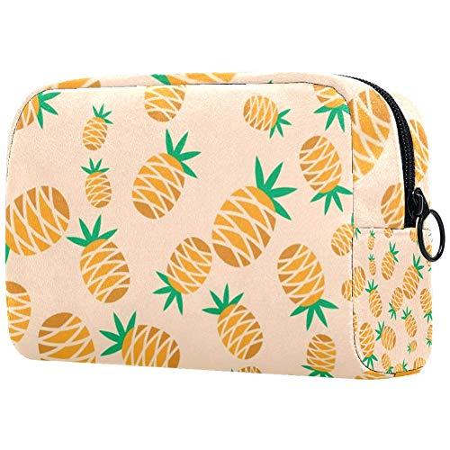 Kosmetiktasche mit Ananas-Motiv, Orange