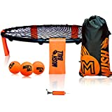 MUSHBALL Spike Battle Ball Game Set - Volleyball Game Kit - Includes 3 Balls, Drawstring Bag, and Rule Book - Gift for Boys, Girls, Teens, Family - Played Outdoors, Indoors, Beach, Lawn, Tailgate