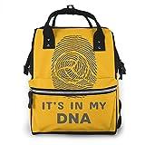 It's in My DNA Borsa per pannolini impermeabile, multifunzione, borsa fasciatoio per maternità, resistente, grande capacità, per mamma e papà