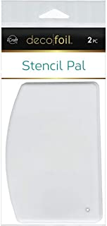 THERMOWEB Deco Foil Stencil Pal 3.75 in x 5.2 in (2 Pieces per Pack), White, Pack of 1