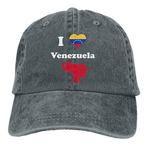 Snapback Cap I Love Venezuela Gorra De Béisbol De Vaquero Deportes Al Aire Libre Regalo Ajustable Gorras De Hip-Hop para Mujer Gorra De Camionero Clásica Impresión De Protección So