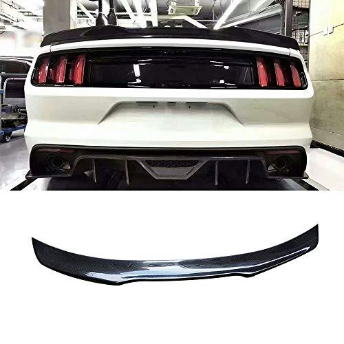 LML Heckklappe Spoiler, Carbon Hecklippe Flügel Fit for Ford Mustang GT V8 V6 GT350R Fit for Coupe 2015 2016 2017 Heckkofferraum Spoiler Gepasst Fit for B-Art (Color : Black)