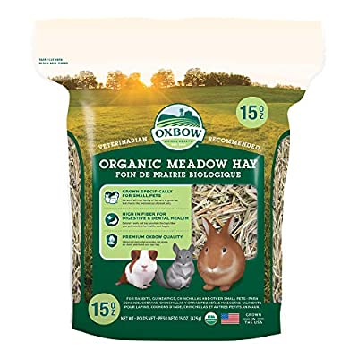 Oxbow Animal Health Meadow Hay - All Natural Hay for Rabbits, Guinea Pigs, Chinchillas, Hamsters & Gerbils - 15 oz. by Oxbow Animal Health LLC