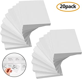 White Sticky Notes, 20 Pad Sticky Note Post at Office, 3x3 Inch, 90 Sheet/Pad