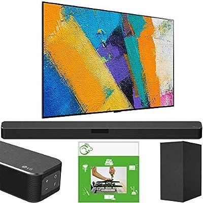 LG OLED77GXPUA 77 inch OLED TV GX Class Smart 4K Ultra HD 2020 Model w/Gallery Design & AI ThinQ Bundle SN5Y Sound Bar w/DTS Virtual:X + Taskrabbit Installation Service + Wall Mount Kit from LG