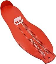Ogquaton Outil de Mesure de Pied Règle de Pied en Plastique Pied Appareil à mesurer Chaussures Chaussures Accessoires pour Pied Adulte 1 Pcs Rouge