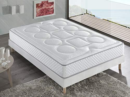 Bellavista Home Matratze Ibiza Memory Foam-Viskoelastisch 160x200x20 cm. Hotelkomfort, sanfter Empfang mit Festigkeit, Therapeutisch. Liegehärten H3&H4, 8 Jahre Garantie.