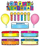 preschool birthday chart - Birthday Cakes Bulletin Board Set, Carson Dellosa Classroom Decorations, 47 Pieces