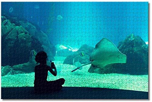 LFNSTXT Portugal Aquarium Lissabon Puzzle für Erwachsene Kinder 1000 Teile Holzpuzzle Spiel für Geschenke Heimdekoration besondere Reise-Souvenirs