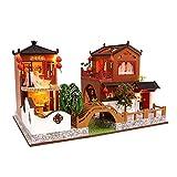 MRlegendary DIY Doll House Assembly Miniatura Doll House Set Decoraciones Creativas Regalo De Cumpleaños Doll House Toy Estilo Chino Doll House Toy Estilo Chino