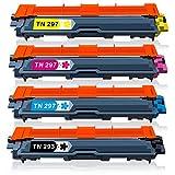TN-293/297 ブラザーbrother 4色セット(BK/C/M/Y) 大容量 互換トナーカートリッジ 対応機種: MFC-L3770CDW / HL-L3230CDW