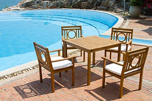 Safavieh Outdoor Living Collection Montclair 5-Piece Dining Set