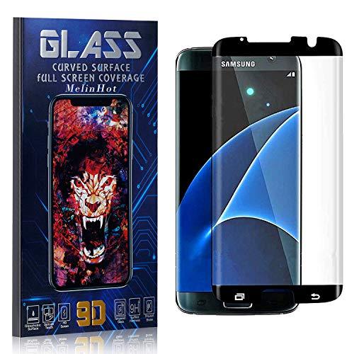 MelinHot Verre Trempé pour Galaxy S7 Edge, Anti Rayures, sans Traces de Doigts, 0.26mm HD Protection en Verre Trempé Écran pour Samsung Galaxy S7 Edge, 1 Pièces