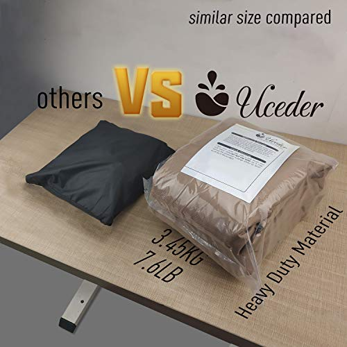 Hot Tub Outdoor Cover Cap Heavy Duty Water-Resistant TPU backing spa cover sun shield, (actual size 85''x85''x20'' Fits 83''x 83') 100% Waterproof hot tub cover guard