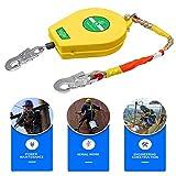 DFGENLY Cavo Anticaduta Retrattile Cordino di Sicurezza Rope Grab Dispositivo Autobloccante in Corda Protezione Anticaduta, Carico:150kg 5m