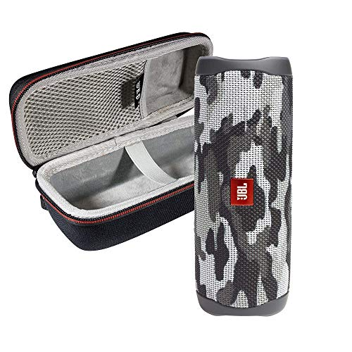 JBL FLIP 5 Portable Speaker IPX7 Waterproof On-The-Go Bundle with WRP Deluxe Hardshell Case (Black Camo)
