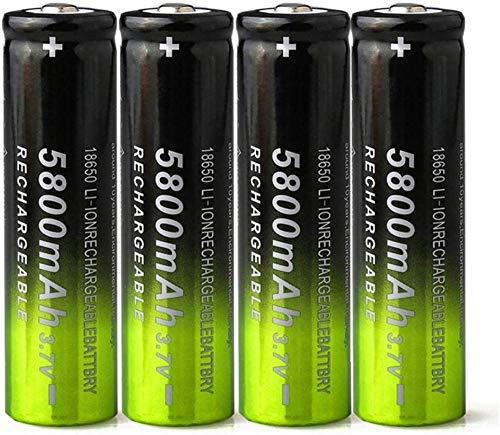 3.7V 5800mAh 18650 Batería de Carga de Litio baterías Recargables Li Ion Cell para Linterna 4pcs