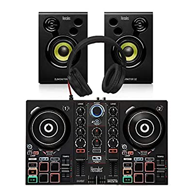 Hercules Inpulse 200 Controller + Monitor Bundle DJ Disco inc Headphones/Leads