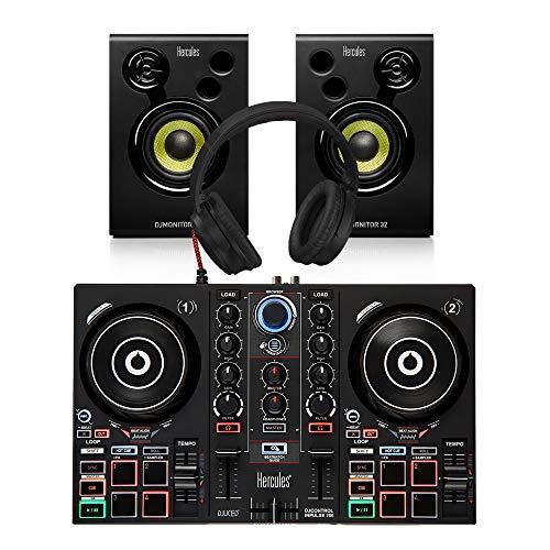 Hercules Inpulse 200 Controller + Monitor Bundle DJ Disco inkl. Kopfhörer/Kabel
