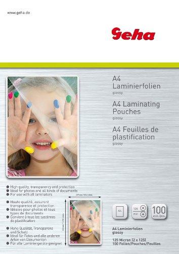 Geha Laminierfolie 125 mic 100er Pack A4