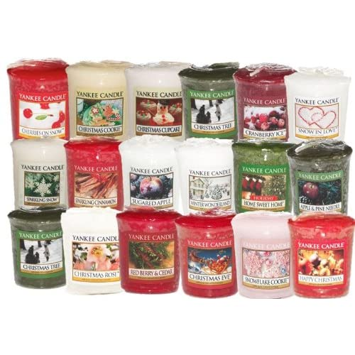 Yankee Candle Lot de 8 bougies votives/festives parfumées