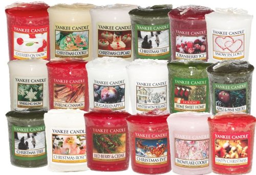Yankee Candle - 8 x Festive Fragrance Sampler / Votive Candles