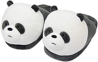 Chaussures Cartoon Panda Animal Slippers Polar Bear Dog Brown Home Warm Plush Cotton Shoes