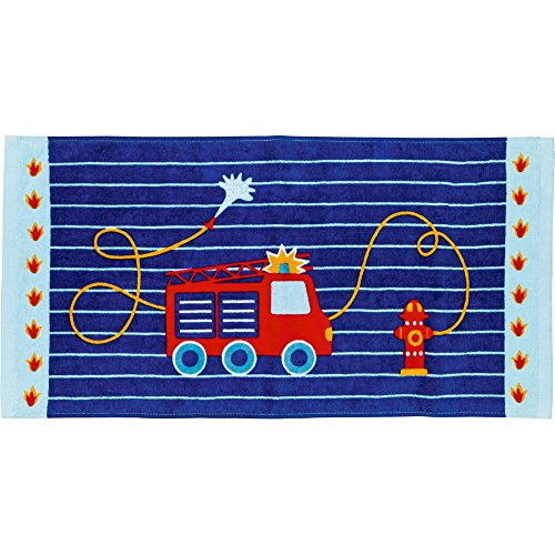 Magic Serviette de Toilette Camion de Pompier Bleu 30 x 60 cm Spiegelburg