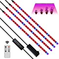 LED Grow Light Strips,24W 120 LEDs Plant Growing Light,LED Growing Light Strips with Auto On/Off Timer,10 Dimmable Levels,3 Switch Modes,Grow Lamp for Indoor Plants,Garden Flowers Veg,Hydroponic Plant