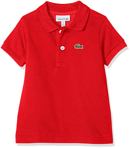 Lacoste Lacoste Jungen Pj2909 Poloshirt, Rot (Rouge), 1 Jahre (Herstellergröße: 1A)