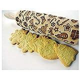 Shuaienfushi Mattarello Professionale in Legno di faggio massello per Fare a casa Tutti i Tipi di Paste, Uso Facile, Legno Calza di Natale