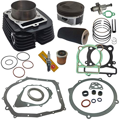 12:1 Big Bore 366cc Cylinder Kit For 1987 1988 1989 1990 1991 1992 1993 1994 1995 1996 1997 1998 1999 2000 2001 2001 2003 2004 Yamaha Warrior 350 yfm350 Piston Rings Pin Gasket Kit