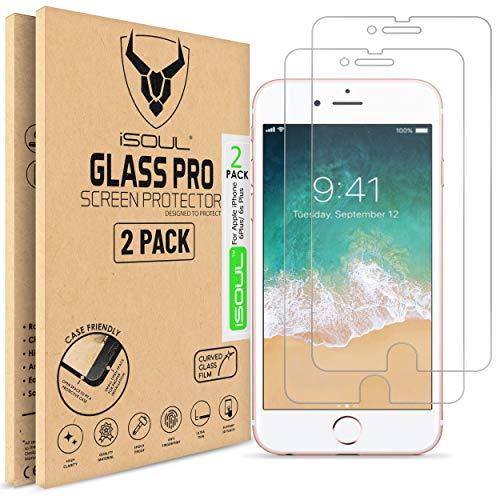 [2 Stück] Panzerglas Displayschutzfolie für iPhone 6s Plus / iPhone 6 Plus Glasfolie Schutzfolie 9h HD, Panzerfolie 5,5 Zoll [3D-Touch Folie] [Screen Protector] [Panzerglasfolie]
