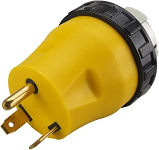 3-Prong 30Amp to 50Amp RV Adapter 50 Amp to 30 Amp Twist Lock RV Adapter, NEMA TT-30P to SS2-50R RV,30 Amp Male to 50 Amp Female