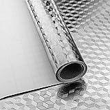 Niviy Autoadesivi Carta da Parati del Foglio di Alluminio Impermeabili stagnola dargento A...