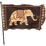 Kenice Garten Banner,Gartenflaggen,Feiertage Flags,Hauptflagge,Haus Hof Flagge,3'X5',Dekorierter Indischer Hinduistischer Elefant In Der Hochdetailflagge Adult Men Custom Print Flag