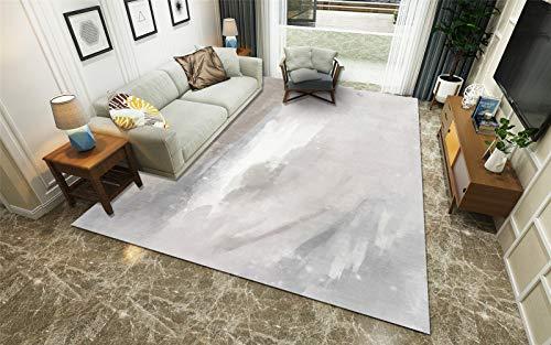 Kinntn Rugs Modern Style Medium dikte 7 mm voor woonkamer slaapkamer keuken tapijt grijs poeder wit-weergave Touch Soft Antislip, machinewasbaar, bijzonder groot vloerkleed