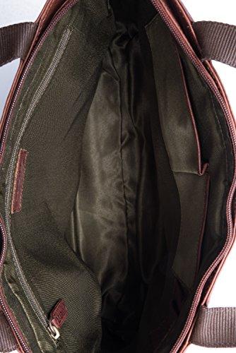 51YszaW3Q1L - LEABAGS Cirebon - Bolso al hombro para mujer, Bole (Marrón) - 4250918917358