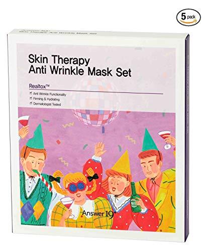 ANSWER NINETEEN+ Terapia Anti rughe maschera Bio Set cellulosa foglio di pelle, contiene Realtox 2, 000Ppm, 25g / 0.88 FL. Oz, confezione da 5