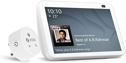 All New Echo Show 8-2nd Gen (White) combo with Zoook 16A Smart Plug