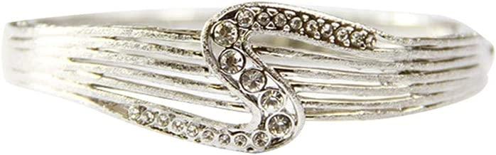 Venus Accessories Women's Rhodium Plated Bangle