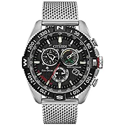 Comes with a 5 Year Citizen UK Warranty fun and functional, this citizen eco-drive promaster navihawk will take you to new heights keeping in time with an aviation theme, the black dial features red, green, and yellow accents along with luminescent h...