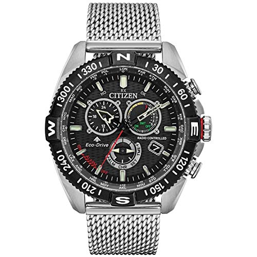 Citizen Men's Eco-Drive Promaster Analogue Watch with Stainless Steel Strap...